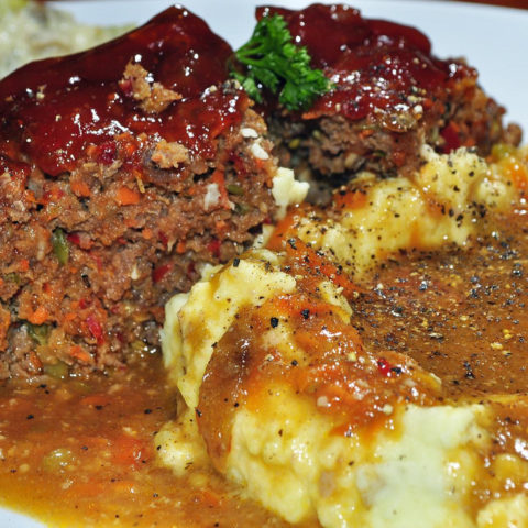 Moist and Saucy Meatloaf